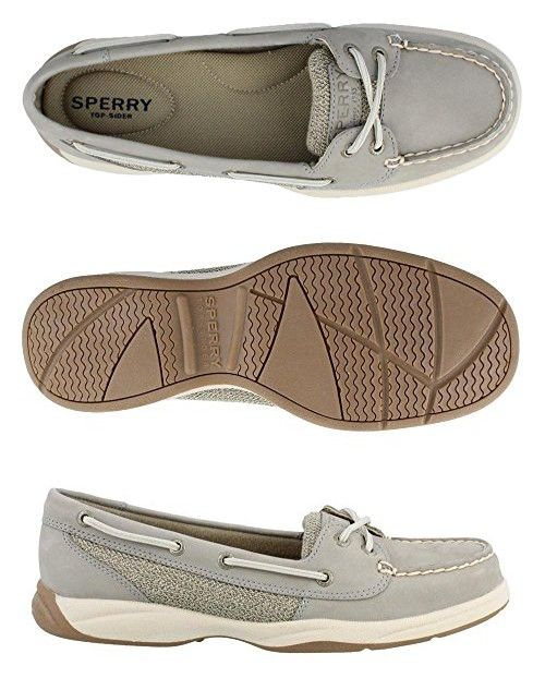 Women's Sperry, Laguna Boat Shoes CHARCOAL 9 M