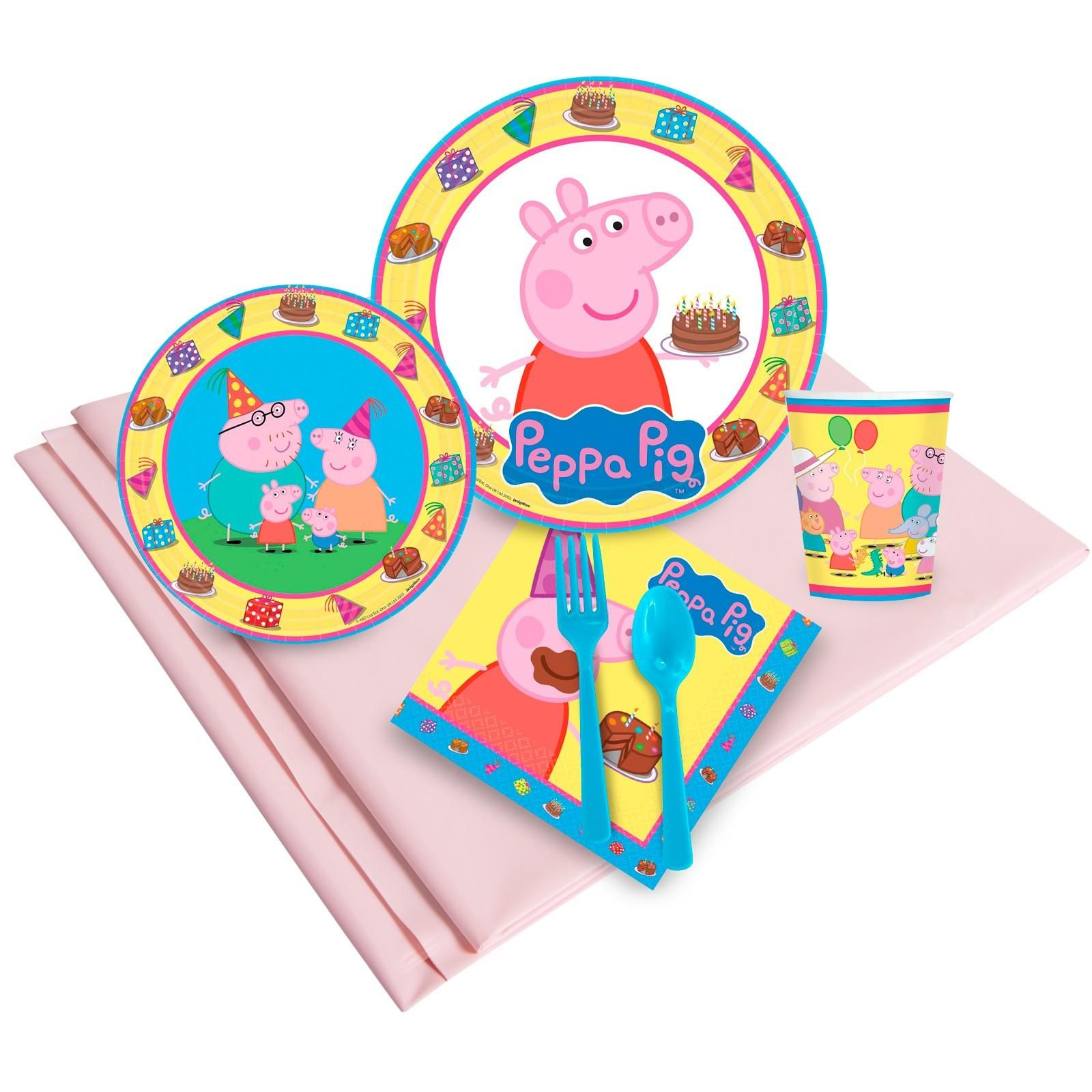 Peppa Pig Party Pack. Party Pack includes dinner plates ...  sc 1 st  Pinterest & Peppa Pig Party Pack | Pig party Peppa pig birthday cake and Pig ...