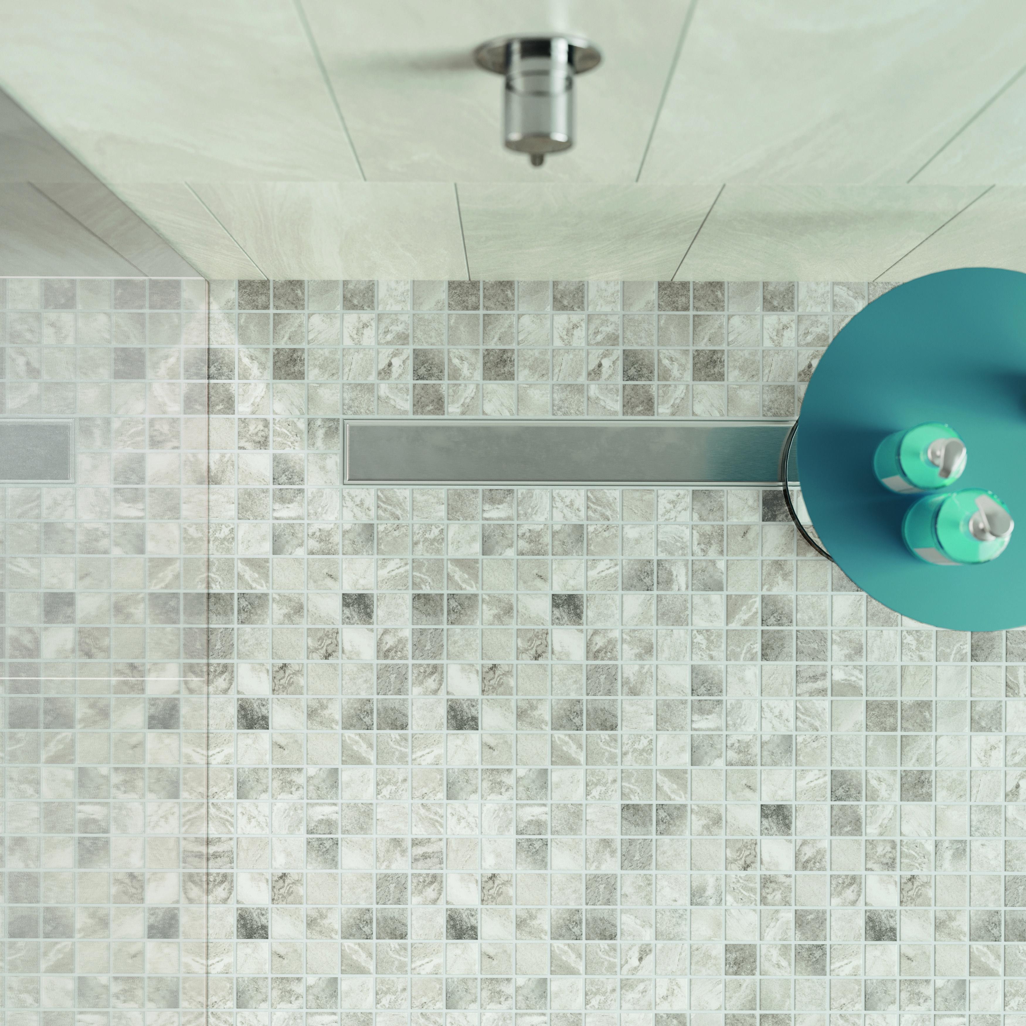 Verflieste Duschbereiche ermöglichen es, den vorhandenen