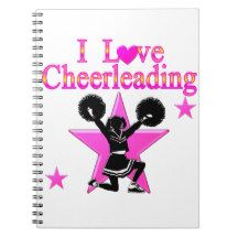 AWESOME CHEERLEADER SPIRAL NOTEBOOKS http://www.zazzle.com/mysportsstar/gifts?cg=196898030795976236&rf=238246180177746410   #Cheerleading #Cheerleader #Cheerleadinggifts #Cheerleadergift #loveCheerleading #BowtoToe