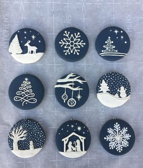 Photo of Blue and Whitie Christmas Ornaments   Crafting with Kids