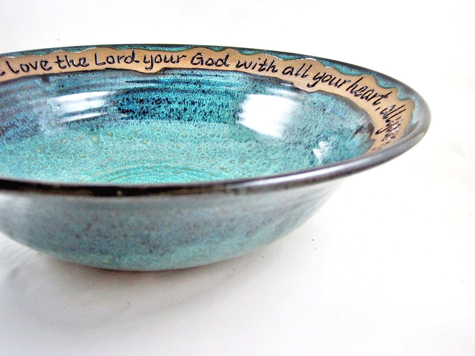 Pottery Wedding Bowl Eat Drink Be Married In Stock 113 Wb