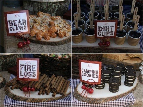 Indoor Camping Food Ideas Birthday Party By Malinda