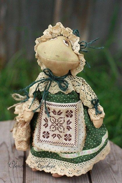 Ароматизированные куклы ручной работы: Лягушка. Handmade.