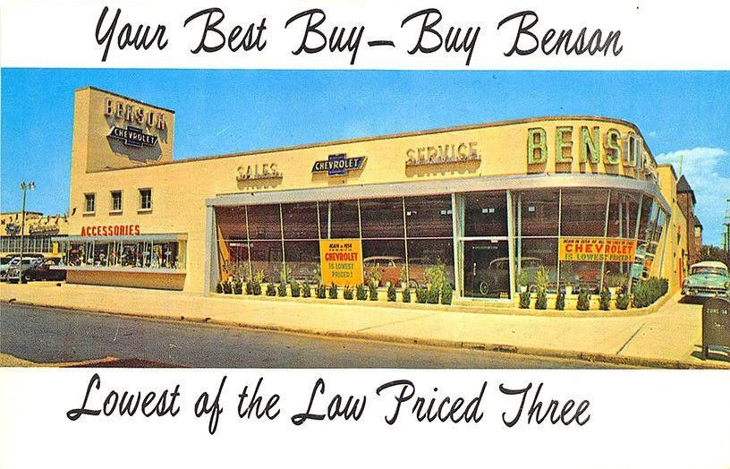1954 Benson Chevrolet, Inc., Dealership, Brooklyn, New