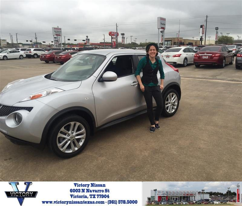 Congratulations Samantha On Your Nissan Juke From Toby Williams At Victory Nissan Victorious Nissan Samantha