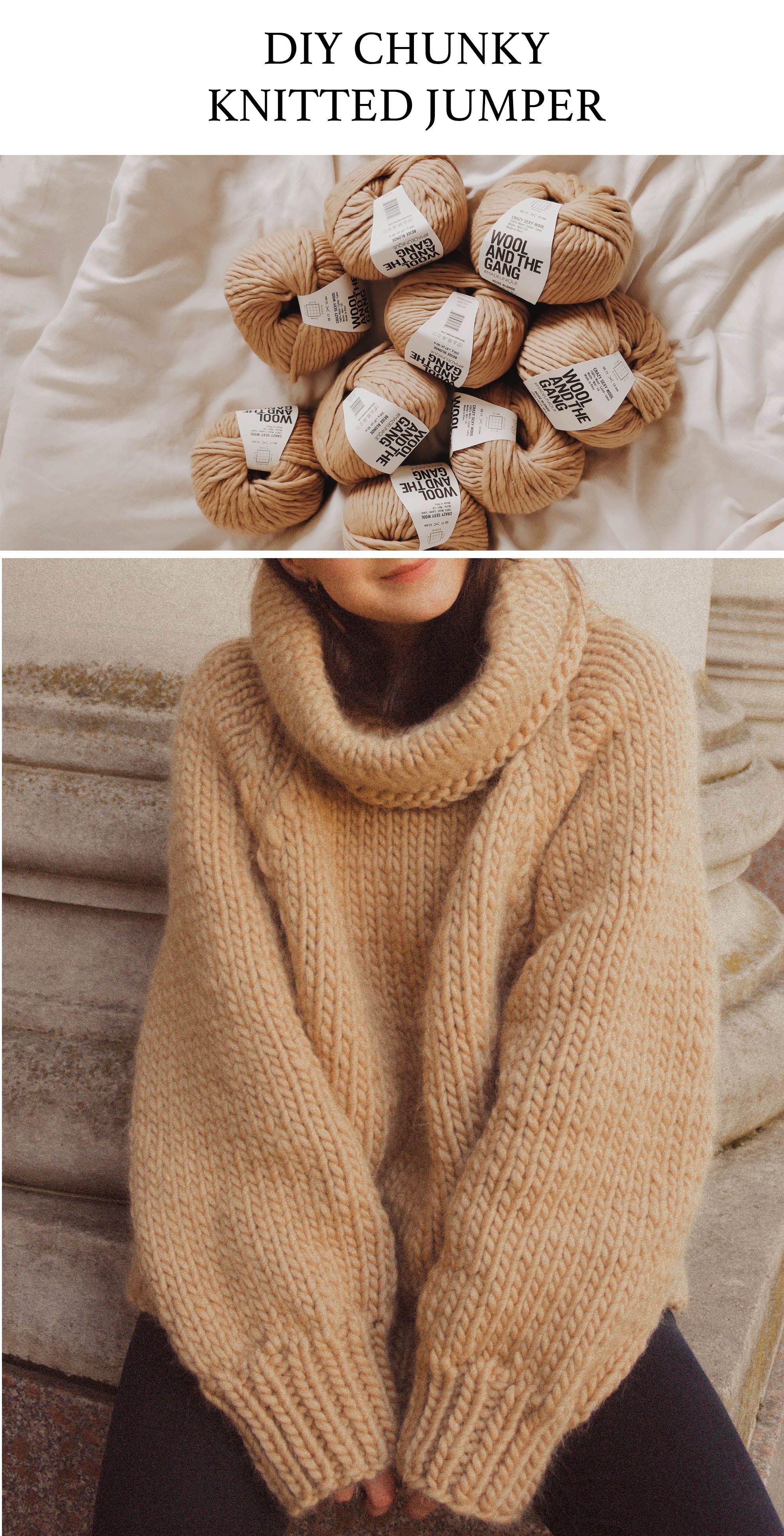 Burn Baby Burn WATG Sweater Self Knitted Kit Wool and the Gang