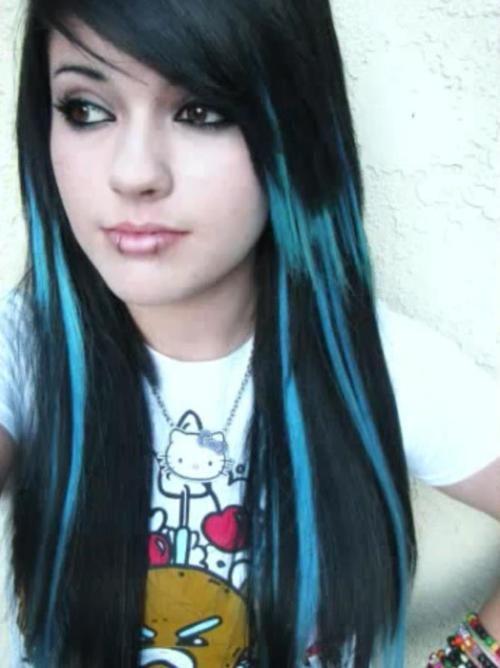 Black And Blue Scene Hair Leda Leda blue and black