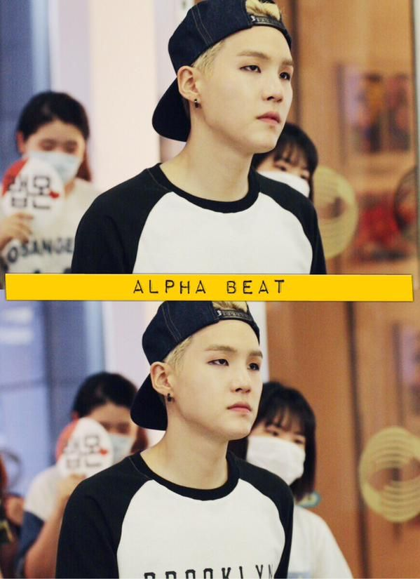 SUGA LOOKS SO GROWN UP HERE DAMN KEEP YOUR HAIR PUSHED BACK MORE OFTEN ITS SUMMER