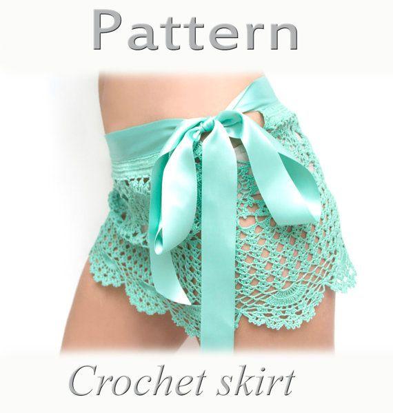 Este es el patrón para la falda de ganchillo. Esta falda de ...
