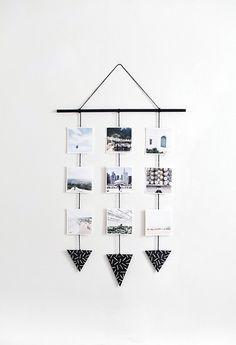 Para darle un toque chic a cualquier espacio de tu casa. Este álbum colgante de fotografías dará un toque minimalista al lugar que desees.