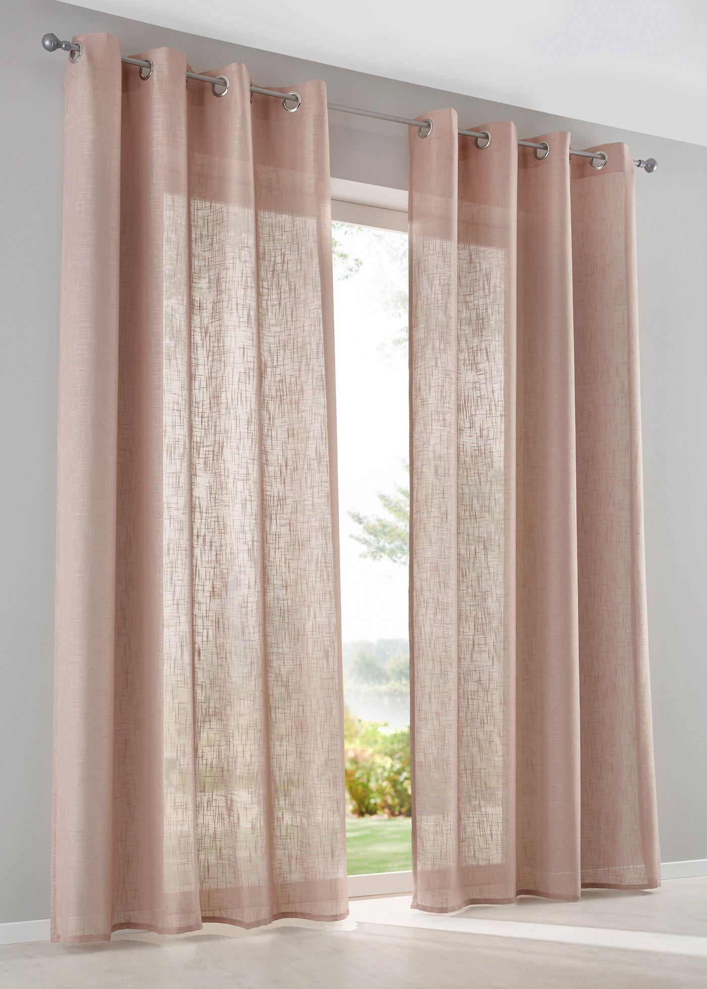 Vorhang In Leinen Optik 1er Pack Osen Rosa Vorhange Vorhange Leinen Leinen Gardinen
