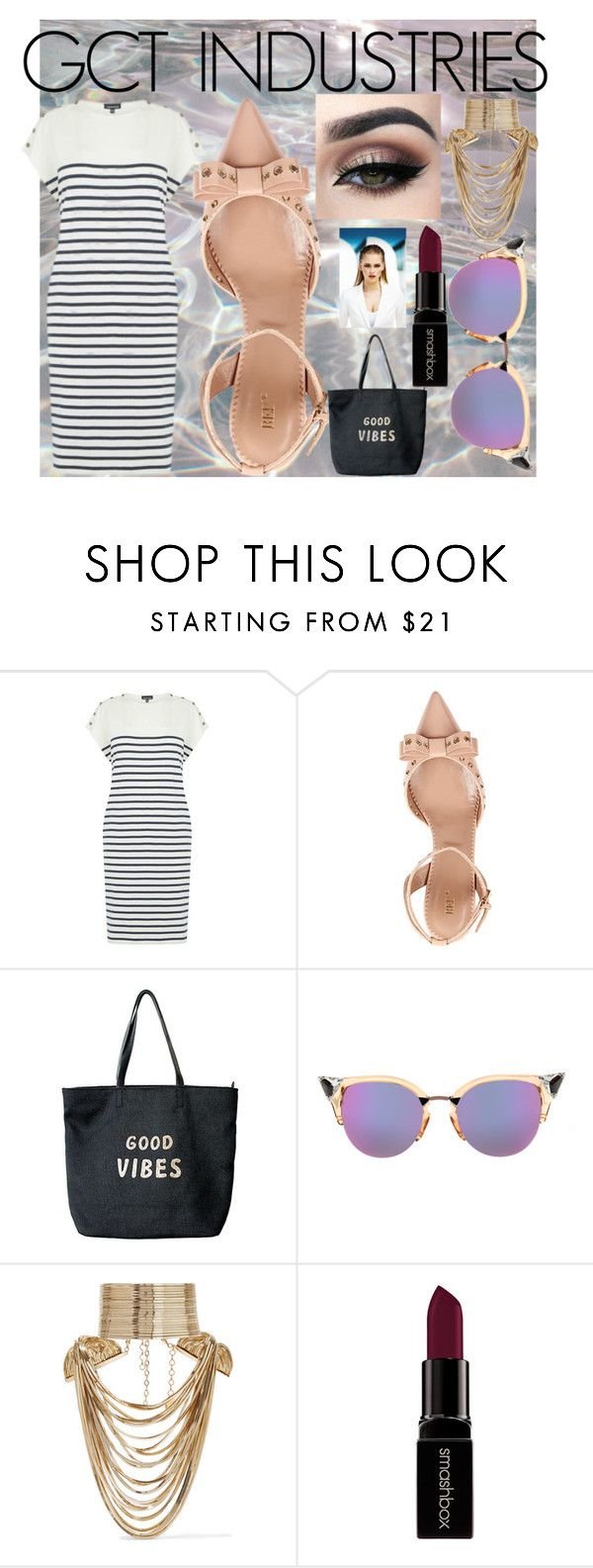 """get the LOOK LOVE the LOOK"" by gctindustries on Polyvore featuring Warehouse, RED Valentino, Venus, Fendi, Rosantica, Smashbox, MISCHA and GetTheLook"