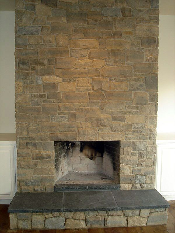 no mantel - Limestone Fireplace | S&P Building Materials ...