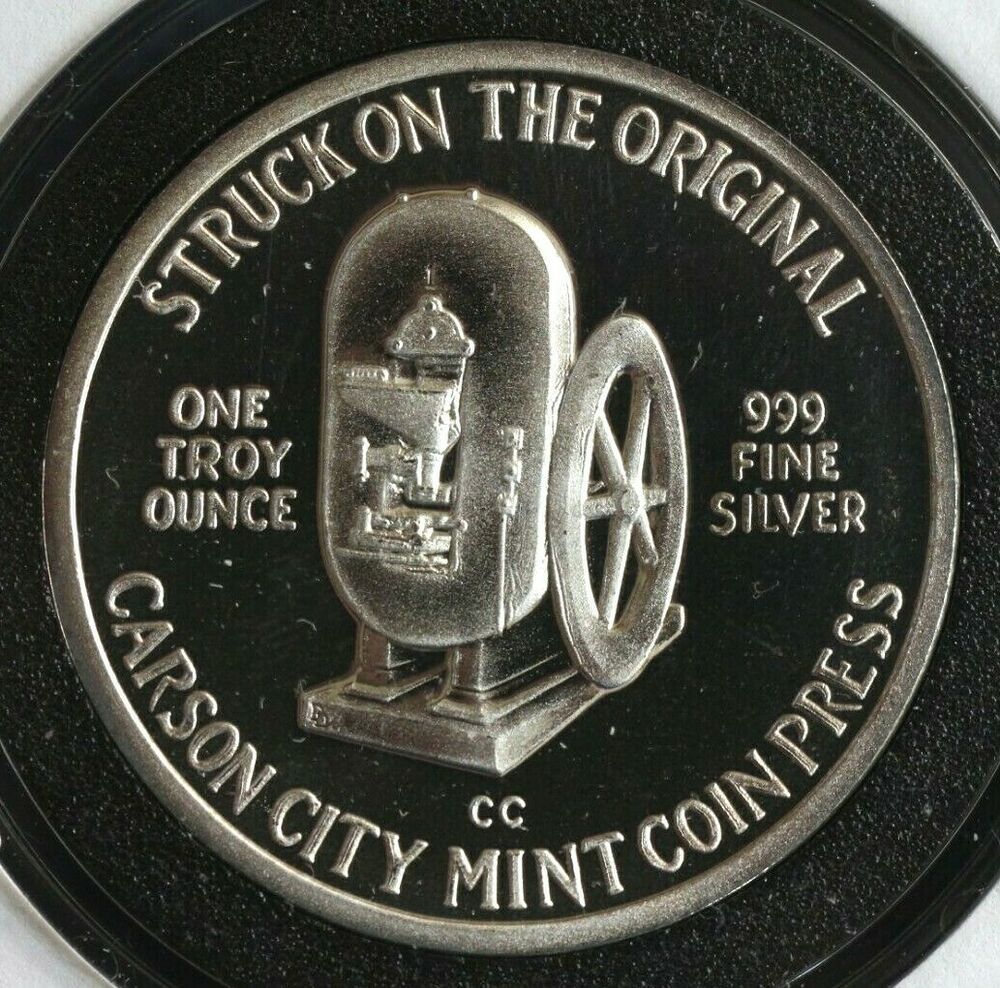 Carson City Mint Press Millennium 2000 1 Oz Silver Round Coin 999 Fine Carson City Coins Mint Coins