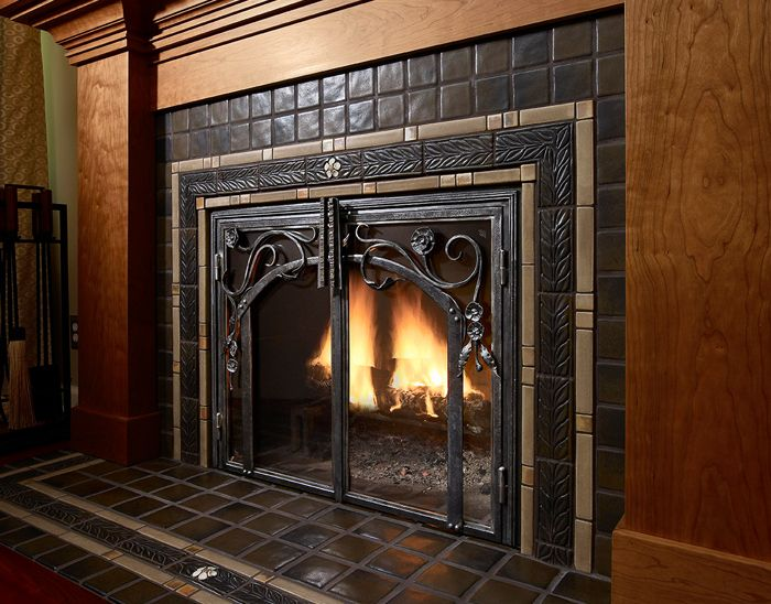 Pewabic Fireplace | Digs | Pinterest | Tiled fireplace, Craftsman ...