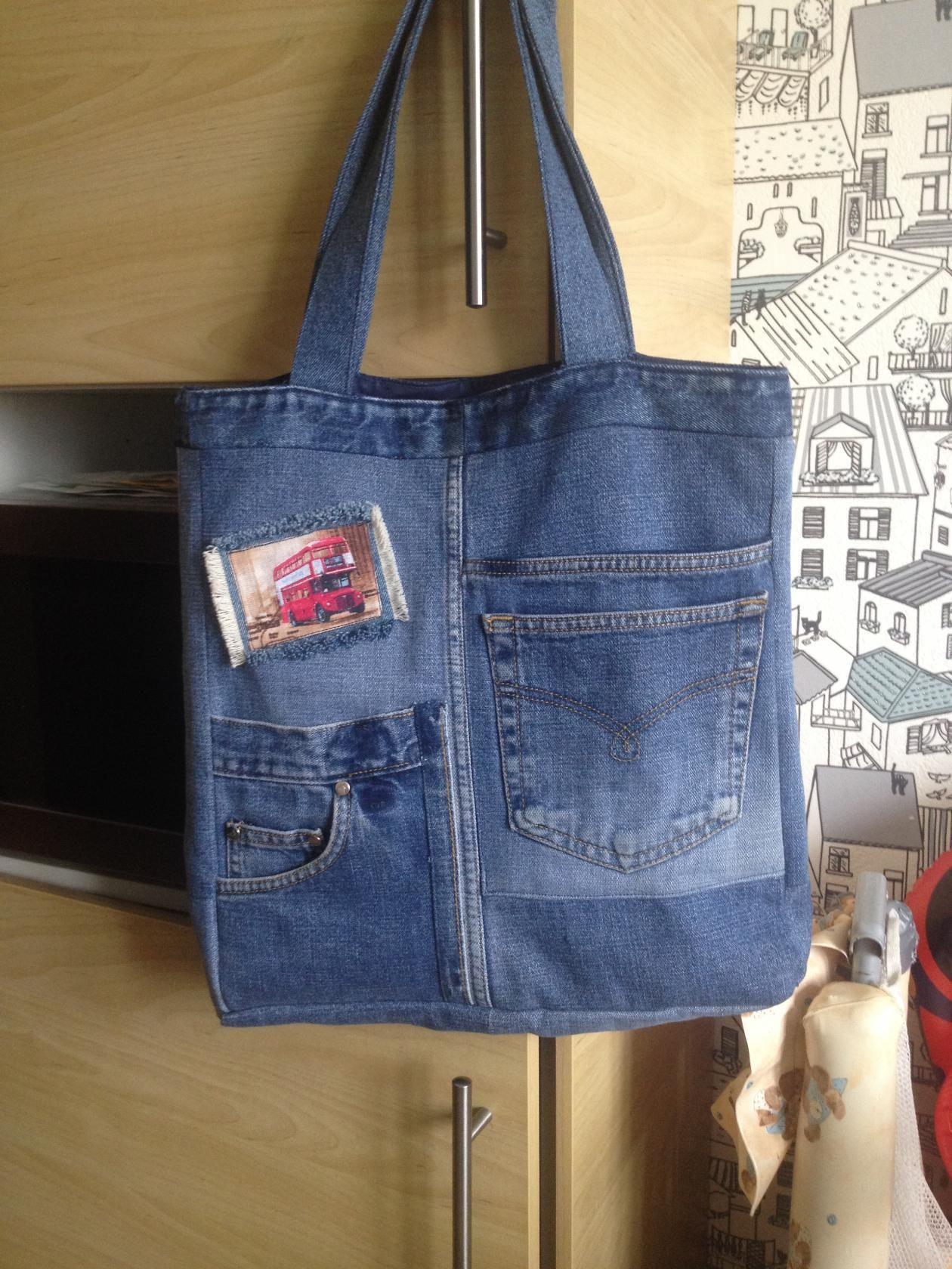 как сшить сумку из джинсовых брюк фото атмосфера