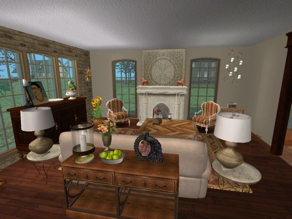 Southwest Spanish Living Room. Virtual Home Décor Room Design using ...