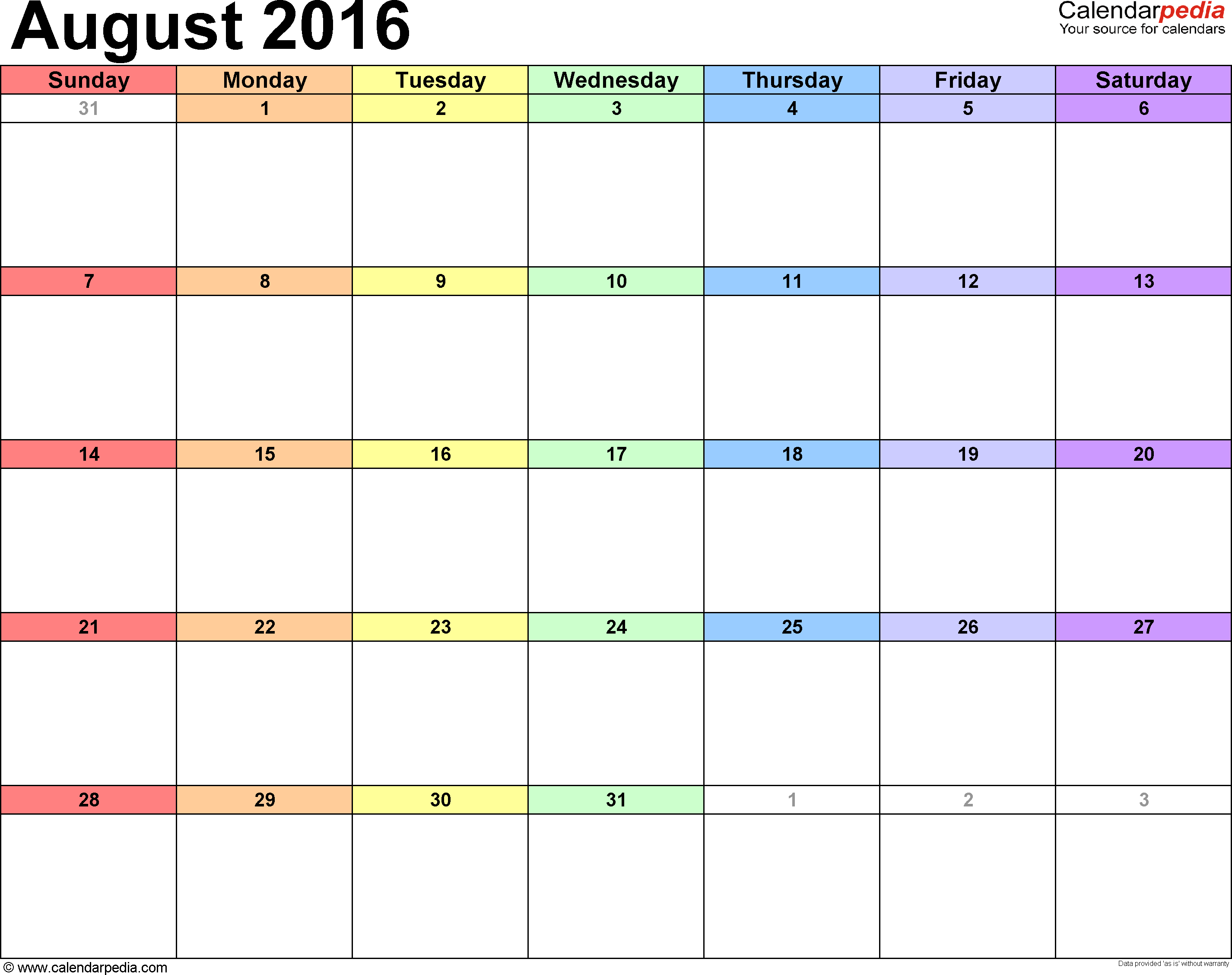 Free Calendar Downloads  Weekly Monthly Academic Yearly
