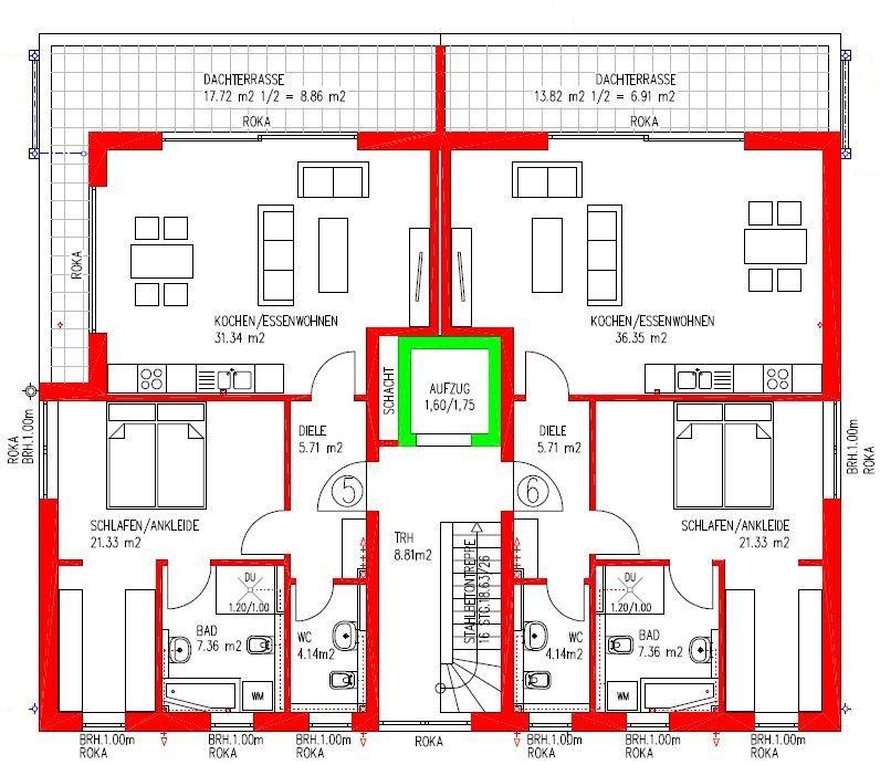 grundriss mehrfamilienhaus mit aufzug 75 m2 GoogleSuche
