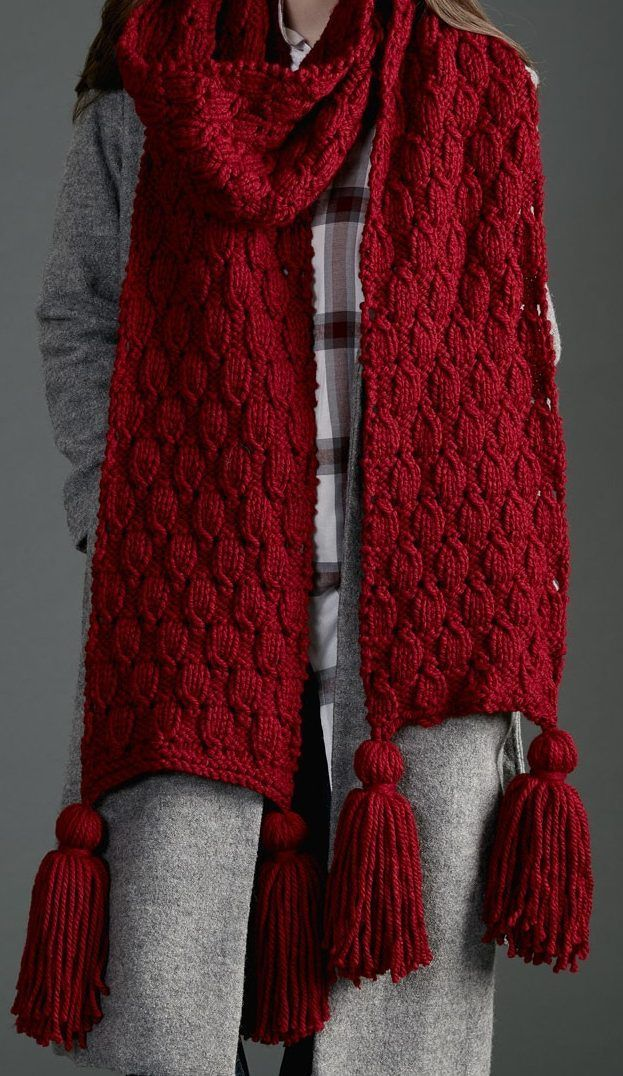 Free Knitting Pattern for Easy Make It Big Super Scarf - This ...