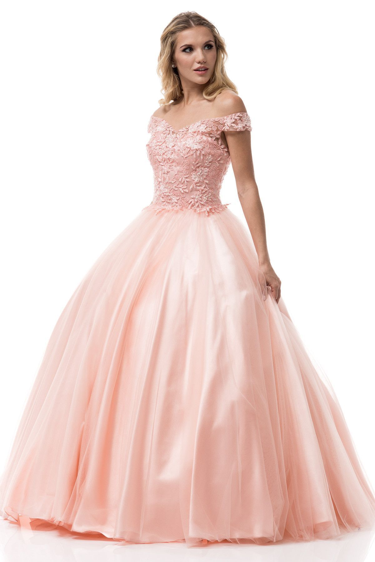 Off the shoulders prom ball gown quinceanera dress bccc