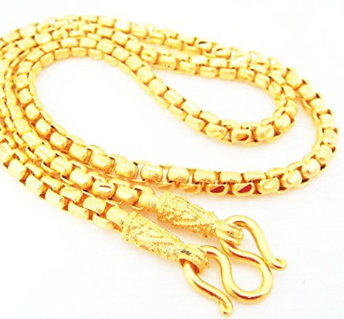 Chain 22K 23K 24K THAI BAHT GOLD GP NECKLACE 24 INCH 50 Grams