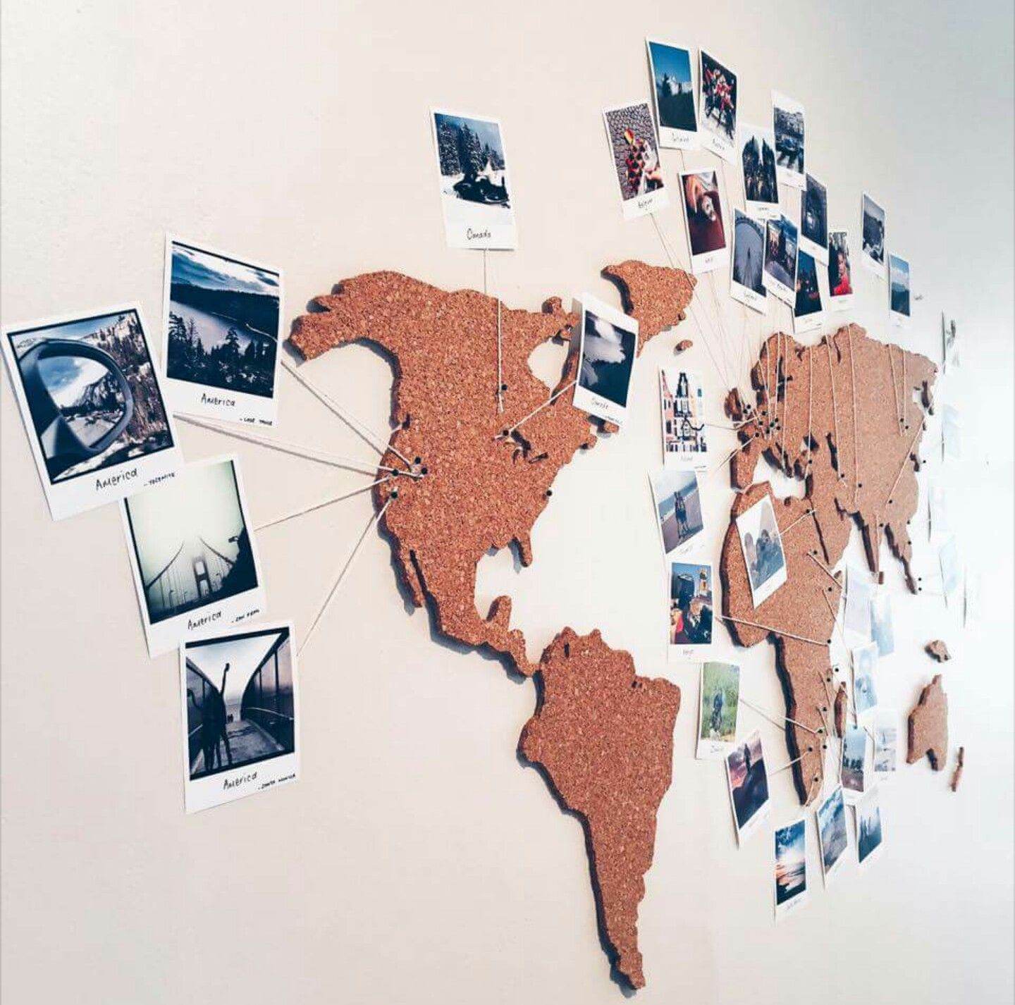 Pin by michelle on art pinterest walls world map cork board world map pin board gumiabroncs Gallery