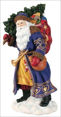 Pipka santa russian father christmas luminous and