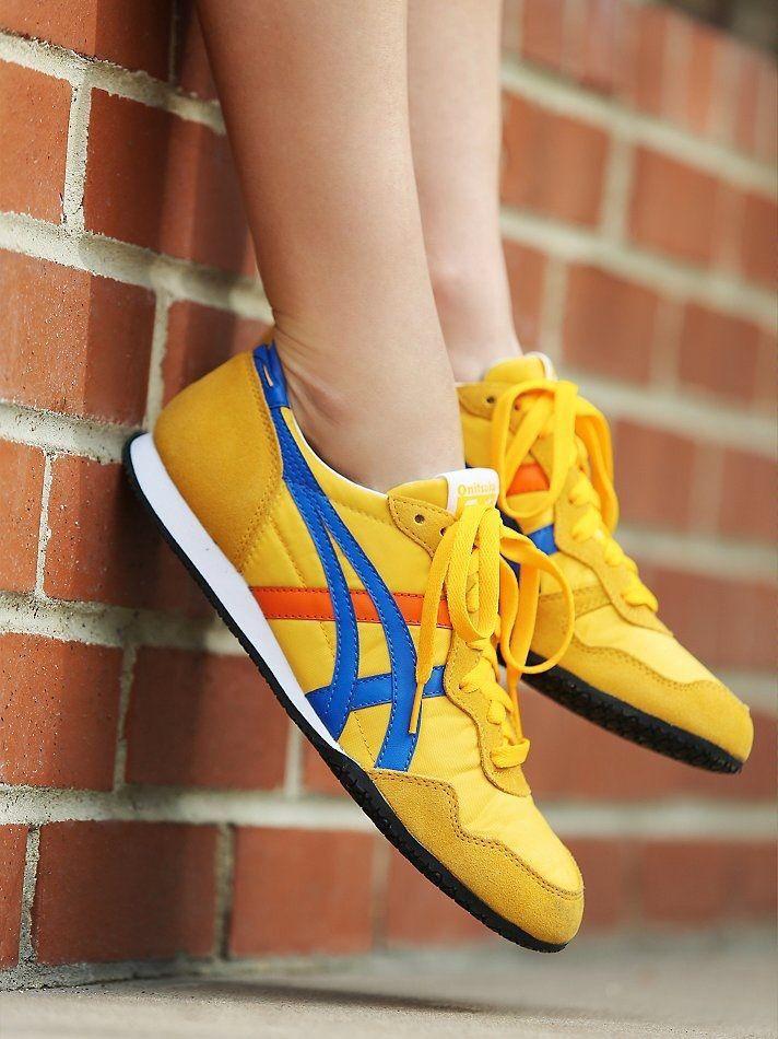 Onitsuka Tiger Serrano: Yellow | Modelos de sapatos, Moda