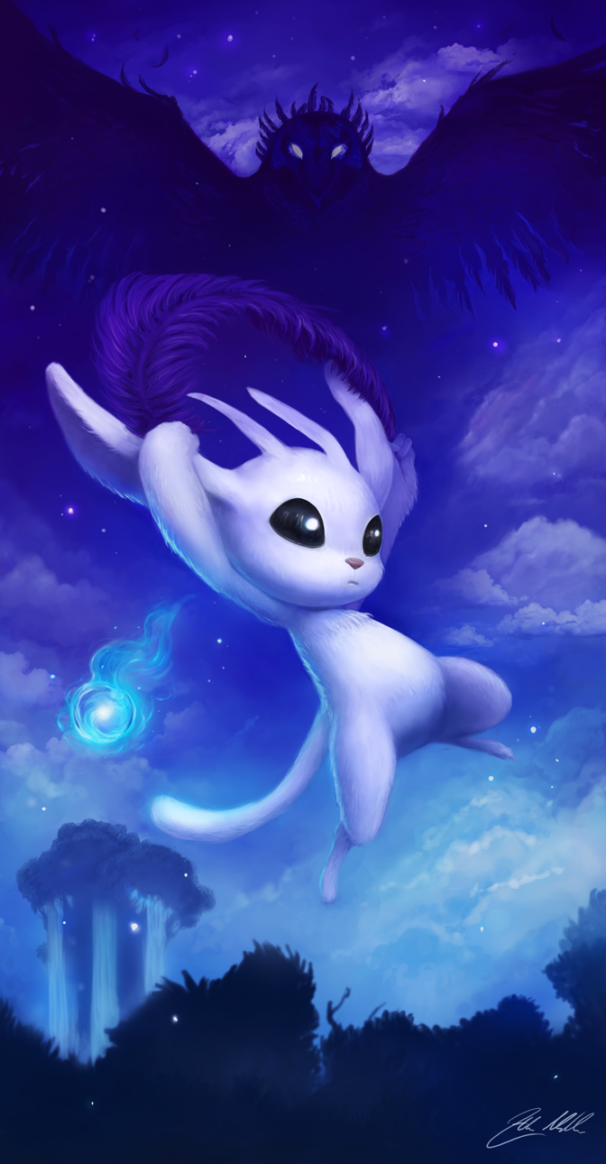 Ori And The Blind Forest Fan Art Created By Helen Michaels Ori