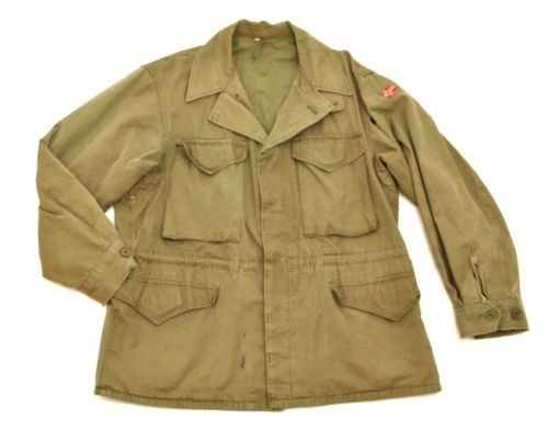 6d53d3f10a257 vtg-60-039-s-Norwegian-Army-M-65-Field-Jacket-Small-Med-38-EU-48-Norway -1968-Khaki