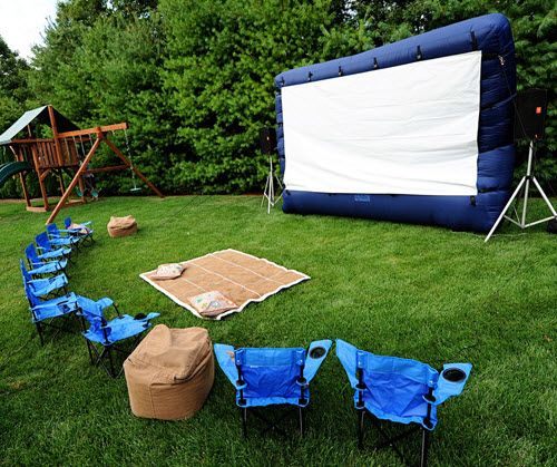 Backyard Movie: Cute Ideas For A Camp-out Party. Gonna