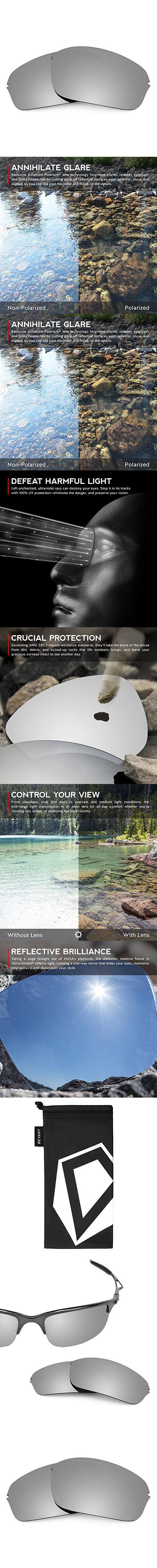 1b418cecdb16 Revant Lenses for Oakley Half Wire 2.0 Polarized Titanium ...