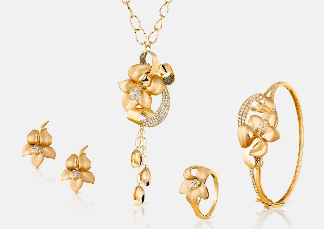 Rosa Gold Collection 21K set - Code: 1016, Gold Weight: 63.5g ...