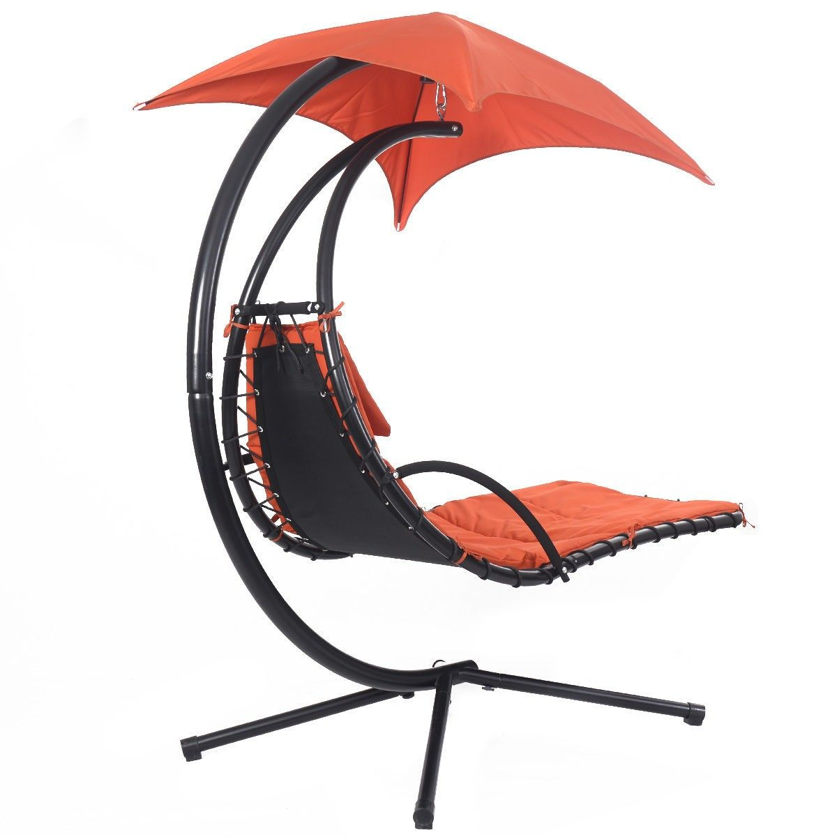 Hanging Chaise Lounge Chair Arc Stand Air Porch Swing Hammock Canopy Orange - Lawn u0026 Garden  sc 1 st  Pinterest : dream chair swinging chaise lounge - Sectionals, Sofas & Couches