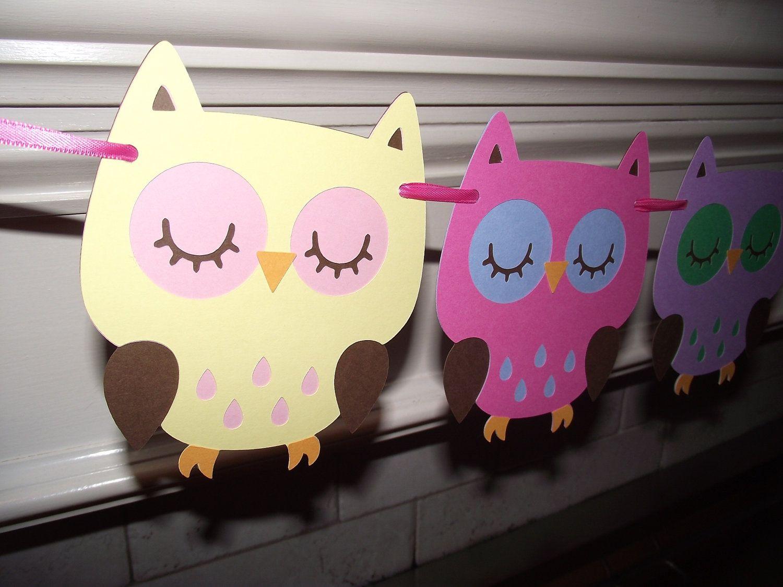 Owl garlandbuntingbannernursery decorationbaby shower girl