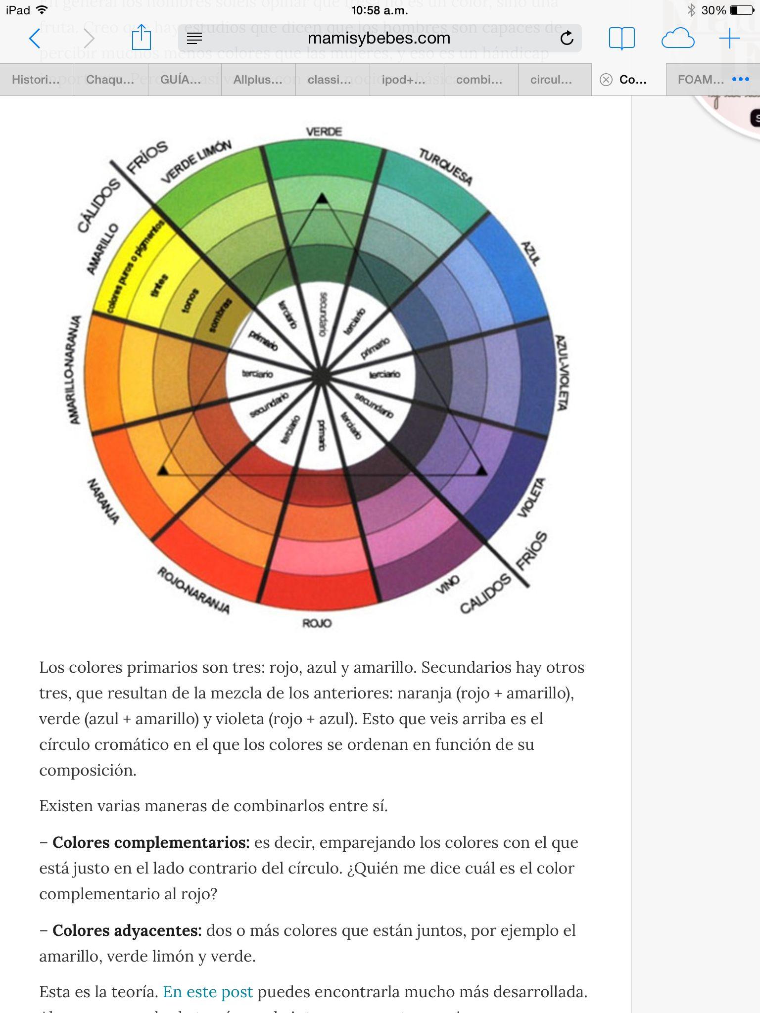 Este círculo cromático es de gran ayuda: podemos usar colores ...