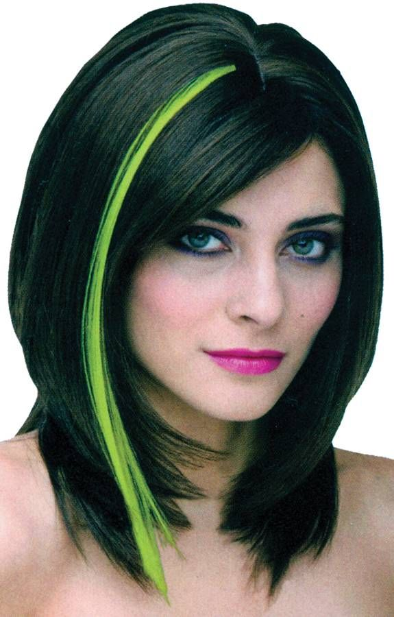 Green hair highlights green highlight hair dye stick emily green hair highlights green highlight hair dye stick pmusecretfo Image collections