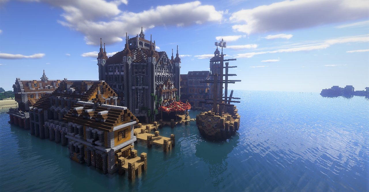 Medieval Harbor Minecraft Project Minecraft Amp Other