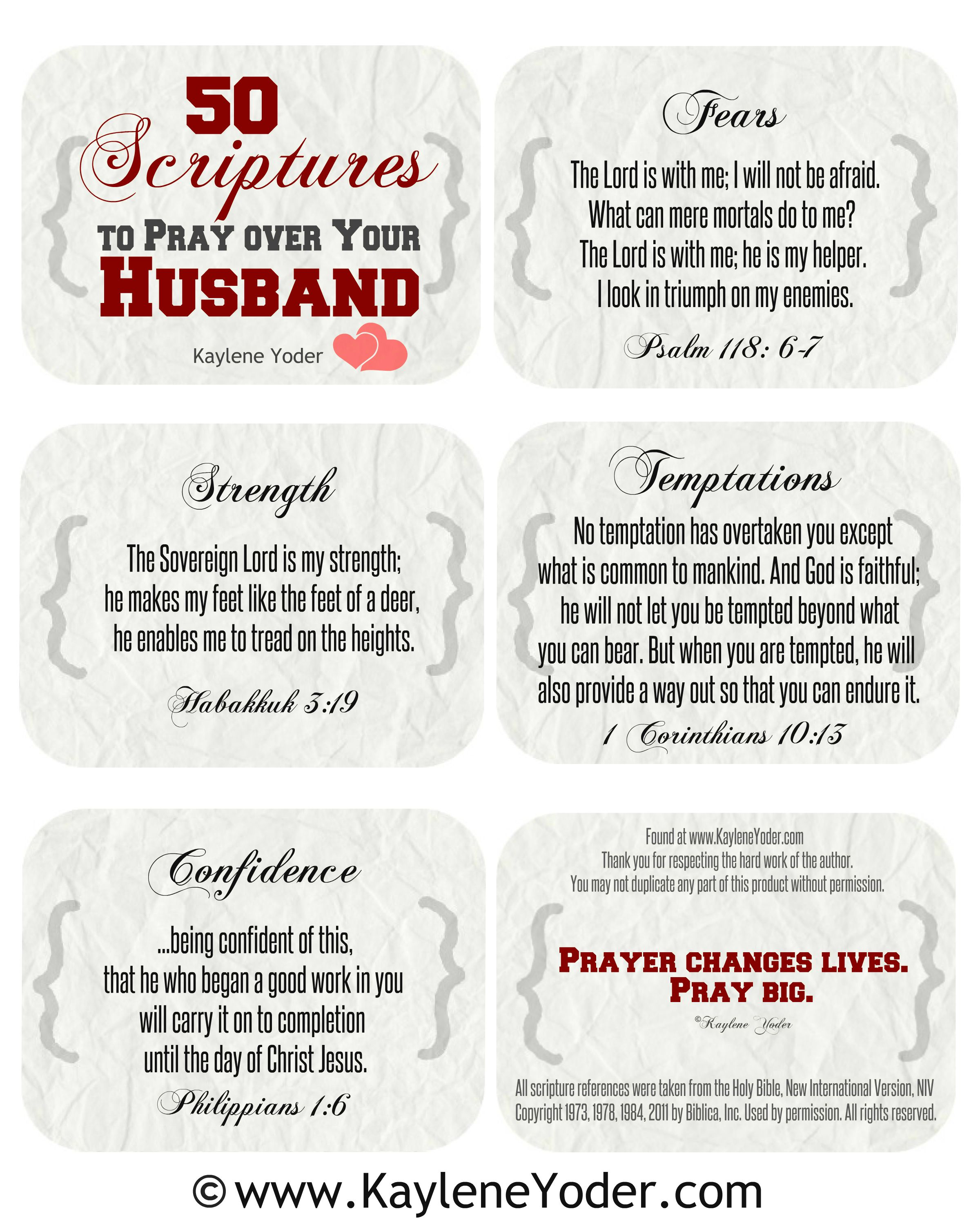These 100 Scripture Prayer Cards For Husband And Wives Is The Most