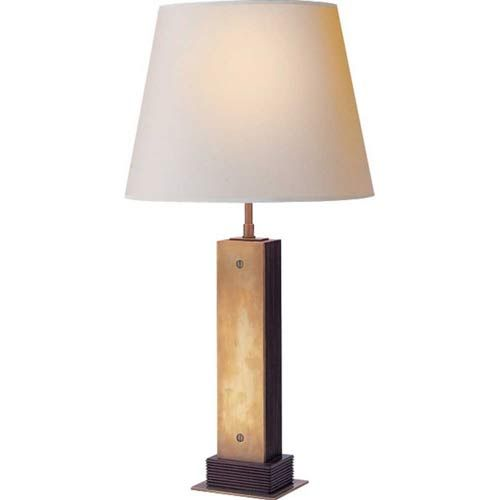 Hand-Rubbed Antique Brass Porter Table Lamp