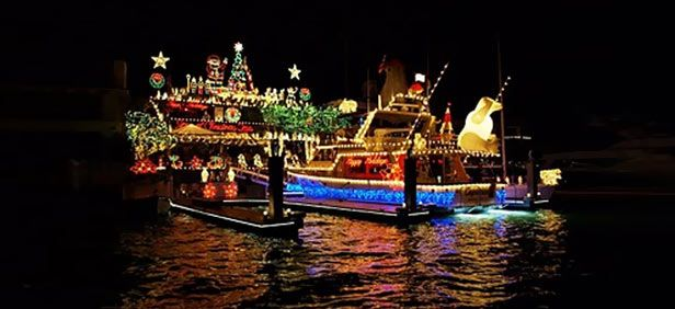 Fort Lauderdale Christmas Boat Parade.Winterfest Boat Parade Fort Lauderdale Florida A