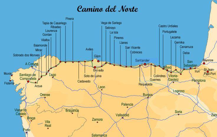 Historia Y Etapas Del Camino Del Norte Camino De Santiago Camino De Santiago Espana Viajar Por Espana