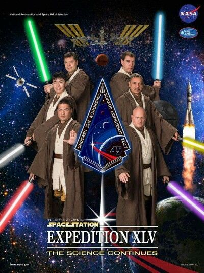 International Space Station Expedition 45 Crew picture.  Too much awesome to handle...