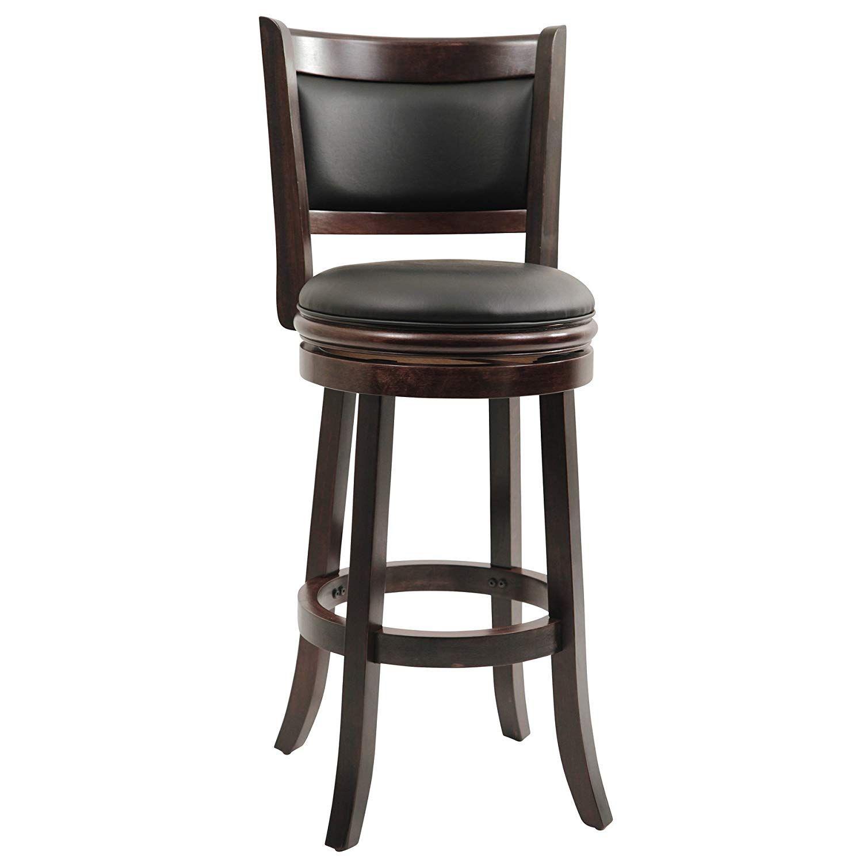 Boraam 48829 Augusta Bar Height Swivel Stool 29 Inch Cappuccino