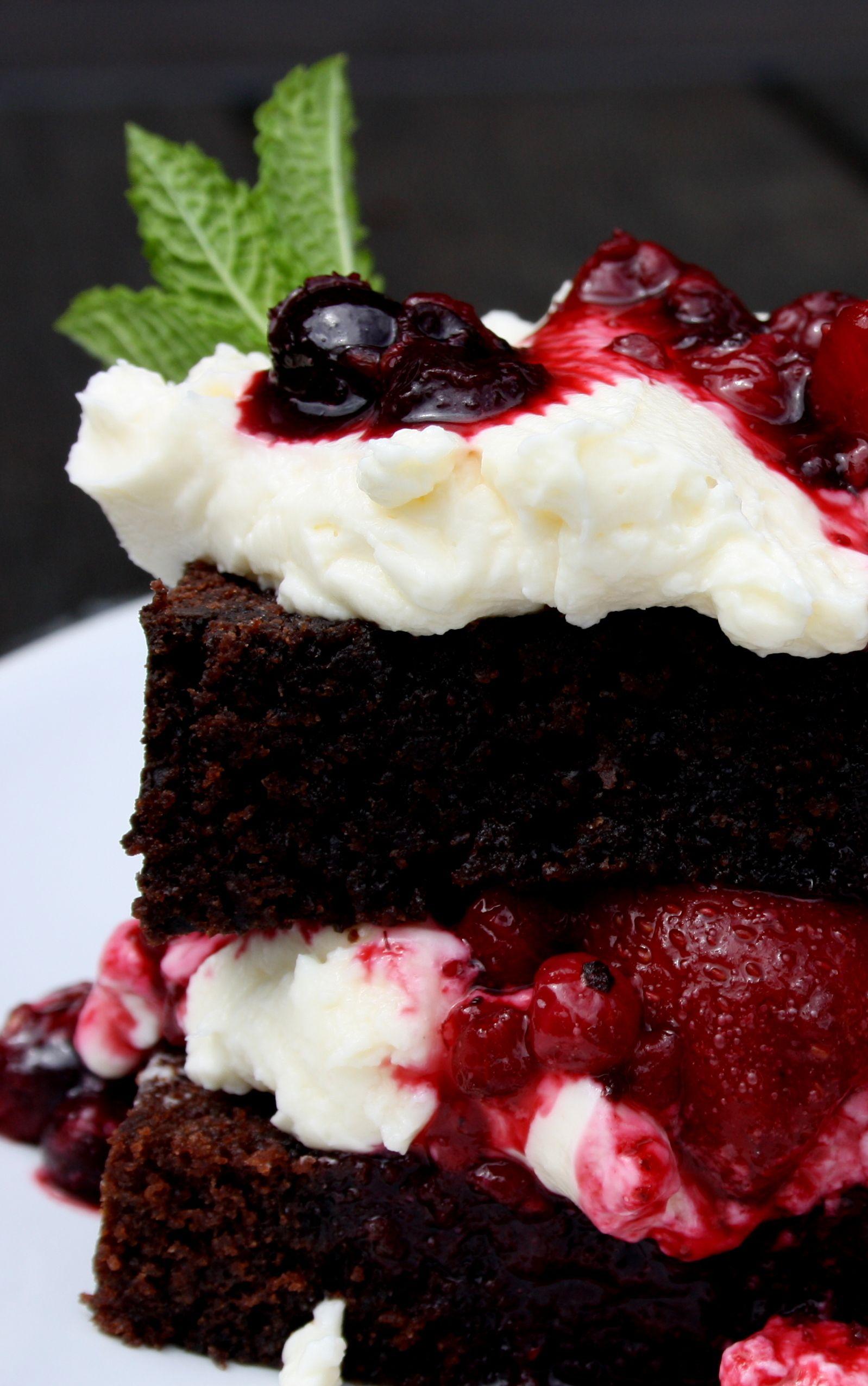 Hier kommt noch ein kleiner Nachtrag zum Supraschokoladigen Schokoladenkuchen! Eine Dessertidee falls etwas vom Kuchen übrig bleibt!