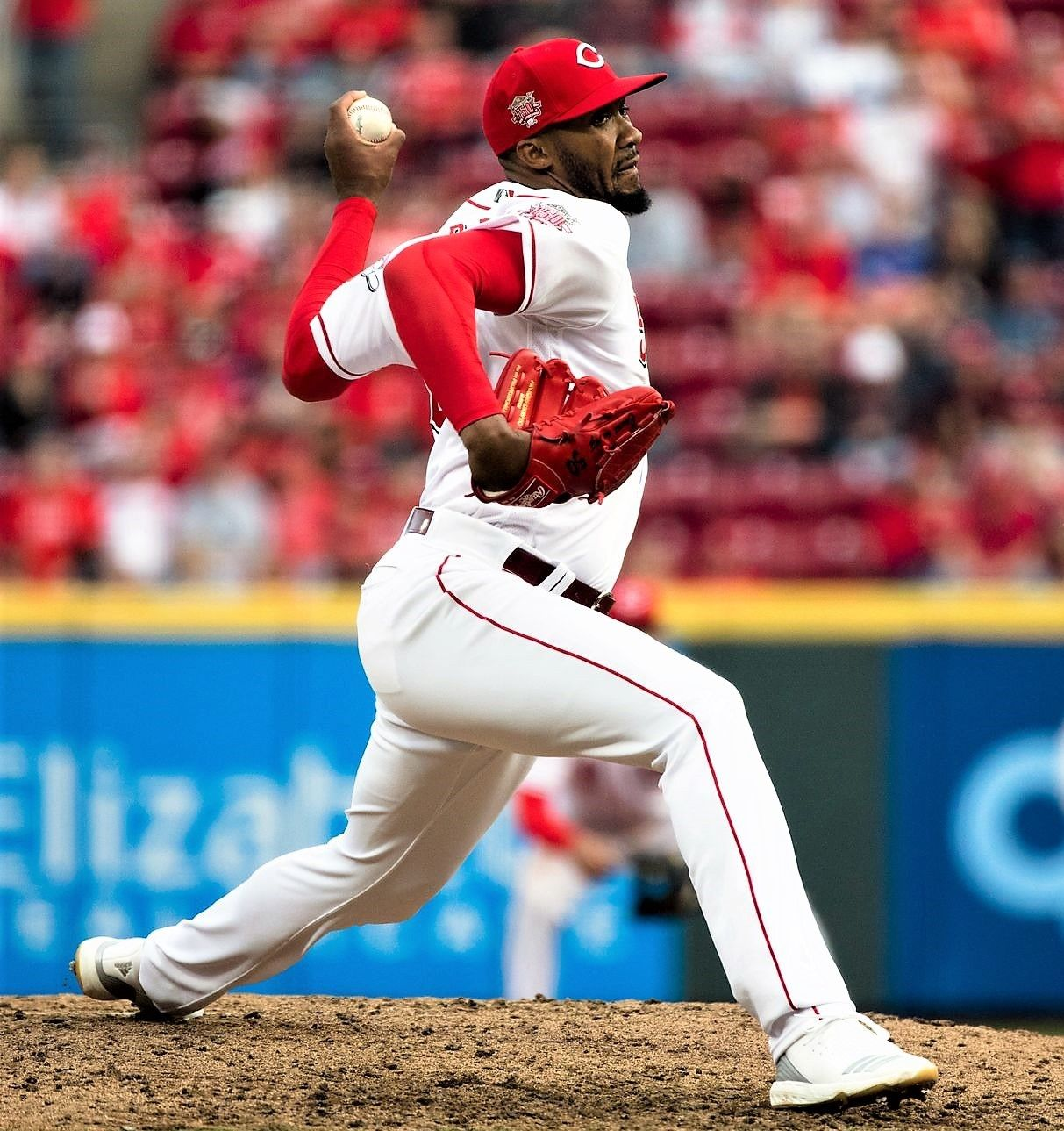 Cincinnati Reds Relief Pitcher Amir Garrett 50 Pitches In The Opening Day Mlb Baseball Game Between Cincinnati Re Cincinnati Reds Reds Opening Day Cincinnati