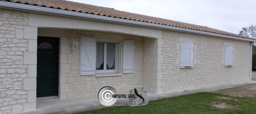 Maison Facade En Pierre maison facade pierre blanche | fausse pierre en façade et sur murets