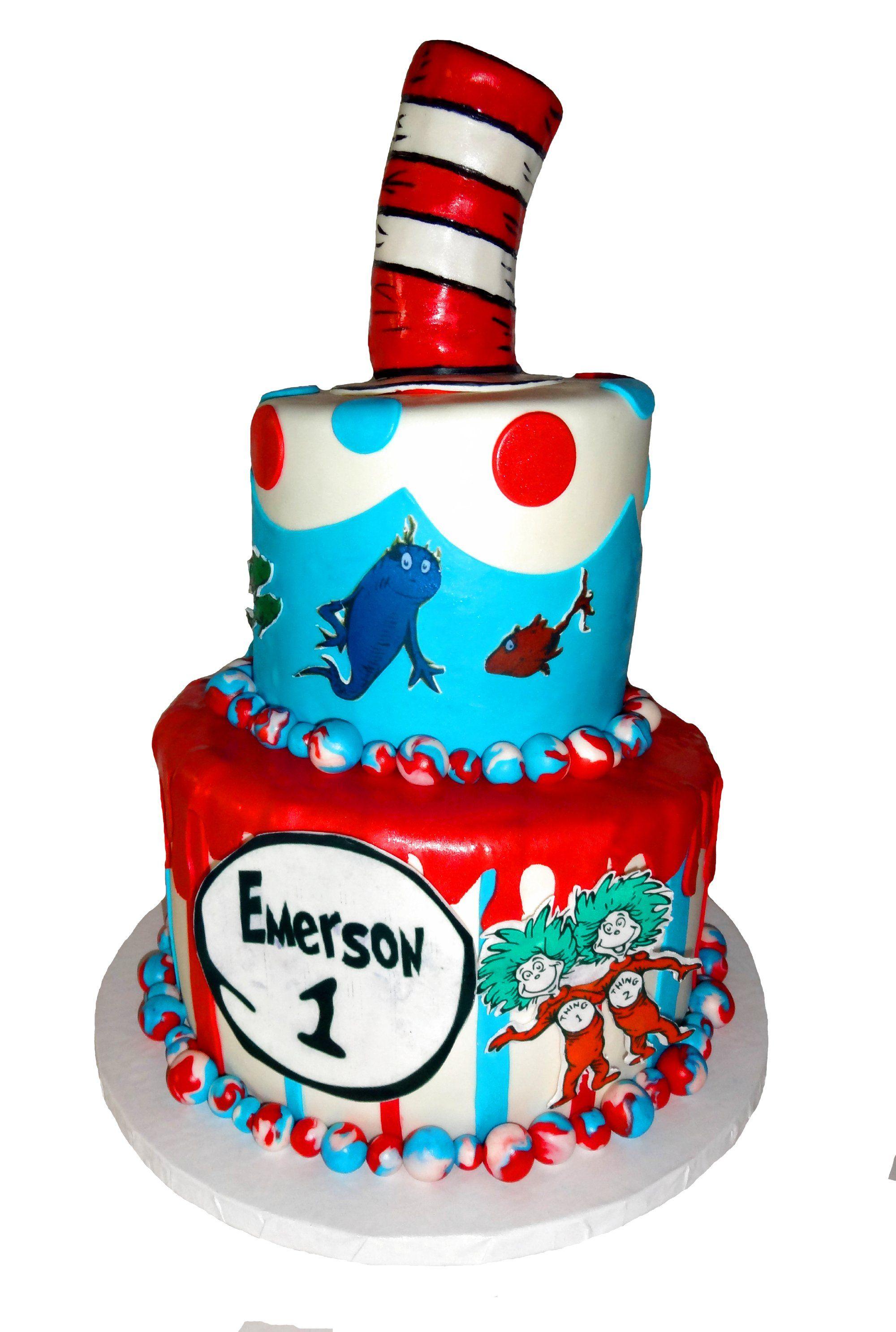... )  Pinterest  Dr. seuss, Birthday cakes and 1st birthday cakes